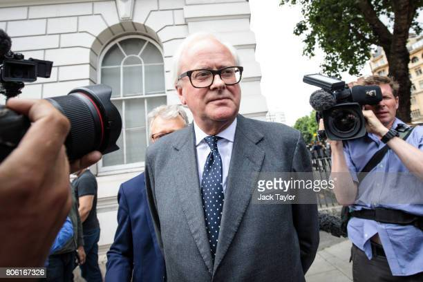Former Chief Executive of Barclays John Varley leaves Westminster Magistrates Court on July 3 2017 in London England Mr Varley today appears with...