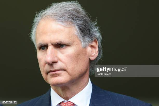 Former Chief Executive of Wealth and Investment Management at Barclays Tom Kalaris leaves Westminster Magistrates Court on July 3 2017 in London...