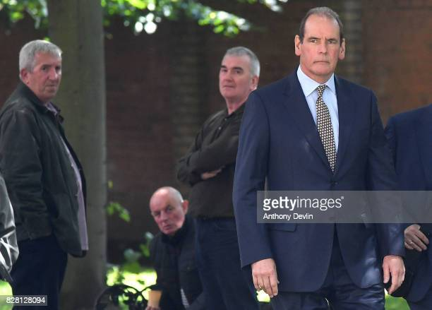 Former chief inspector of South Yorkshire Police Sir Norman Bettison arrives at Warrington Magistrates Court on August 9 2017 in Warrington England...
