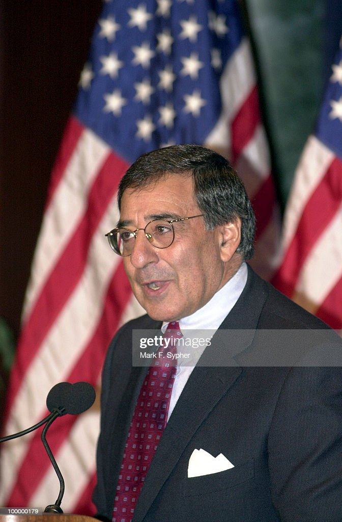 Former Chief of Staff (to President Clinton) Leon E. Panetta spoke briefly and then introduced former Treasury Secretary Robert Rubin, before Senate Majority Leader Thomas Daschle (D) gave his 'America's Economy: Rising To Our New Challenges' speech on Friday at the Center for National Policy.'