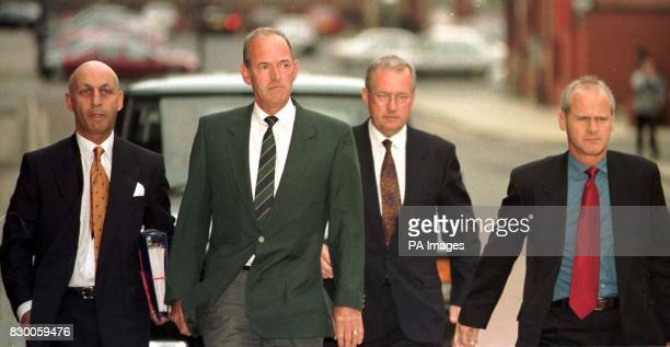 Former Chief Superintendent David Duckenfield 53 and former Superintendent Bernard Murray 56 arrive at Leeds Magistrates Court Families of victims of...