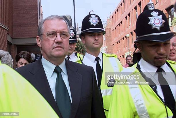 Former Chief Superintendent David Duckenfield leaves Leeds Crown Court after the jury was sent home for the weekend after failing to reach verdicts...