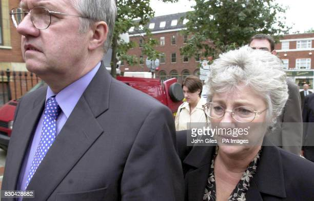 Former Chief Superintendent David Duckenfield with his wife Ann at Leeds Crown Court where a jury is still considering verdicts on charges he faces...