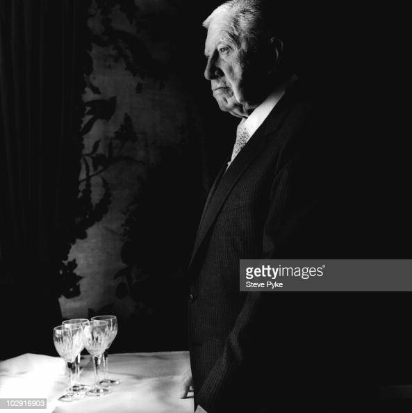 Former Chilean Dictator Augusto Pinochet poses for a portrait shoot in London UK
