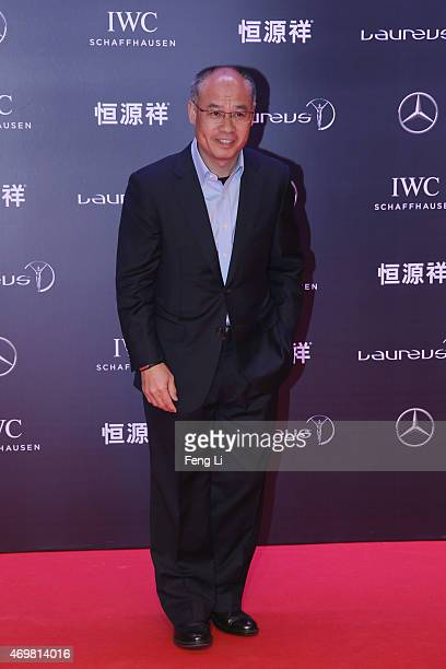 Former Chinese Olympic gymnast Li Ning attends the 2015 Laureus World Sports Awards at Shanghai Grand Theatre on April 15 2015 in Shanghai China