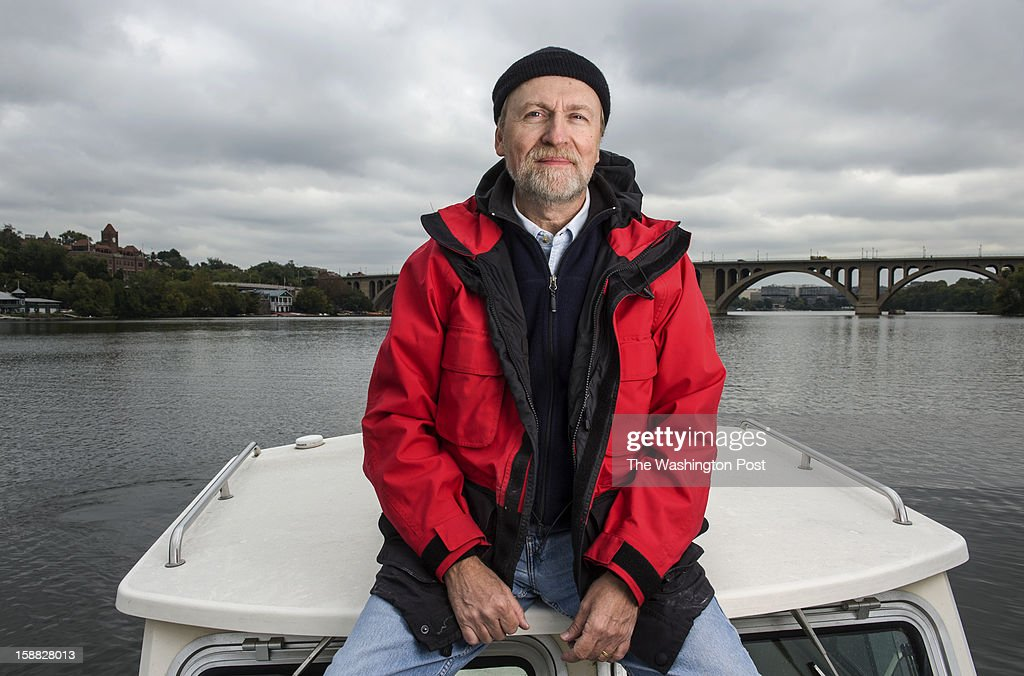 Former chiropractor turned Potomac Riverkeeper Ed Merrifield poses on the Potomac River near Georgetown Tuesday October 9, 2012 in Washington, DC. He will retire the post after about a decade on the job.
