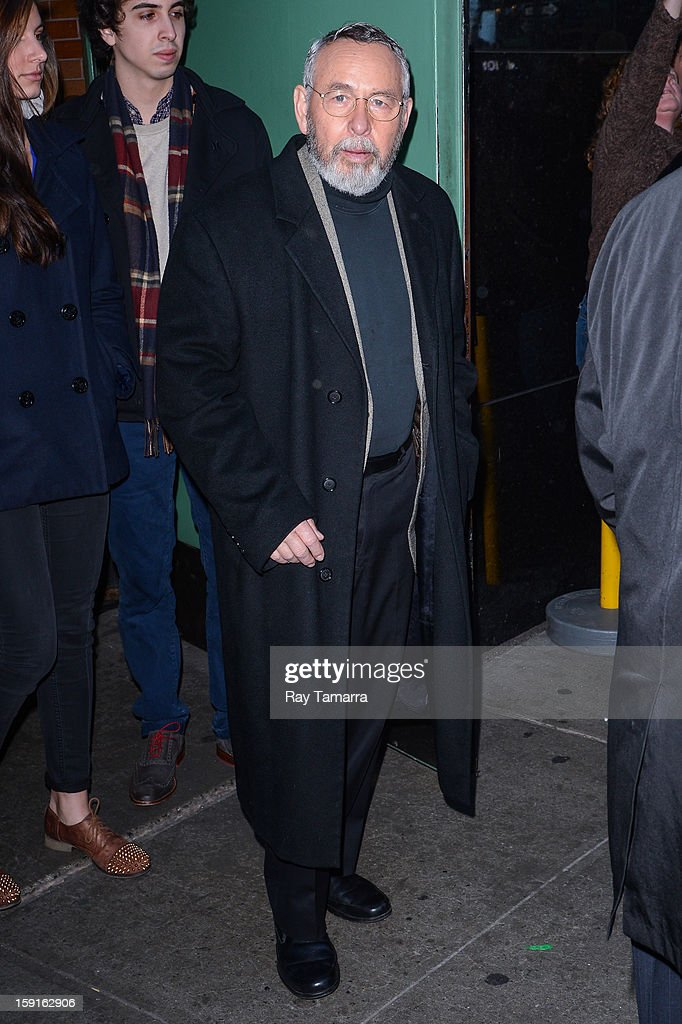 Former CIA agent Tony Mendez leaves the 'Good Morning America' taping at ABC Times Square Studios on January 8, 2013 in New York City.