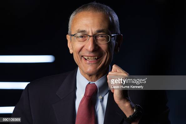 Former Clinton White House Chief of Staff John Podesta being interviewed for Discovery Channel's 'The President's Gatekeepers' November 9 in...