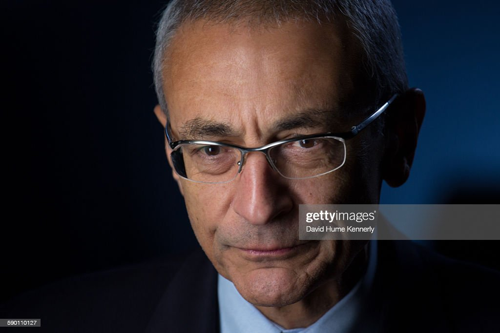 Former Clinton White House Chief of Staff, <a gi-track='captionPersonalityLinkClicked' href=/galleries/search?phrase=John+Podesta&family=editorial&specificpeople=209397 ng-click='$event.stopPropagation()'>John Podesta</a>, being interviewed for Discovery Channel's, 'The President's Gatekeepers,' November 9, 2012, in Washington, D.C.