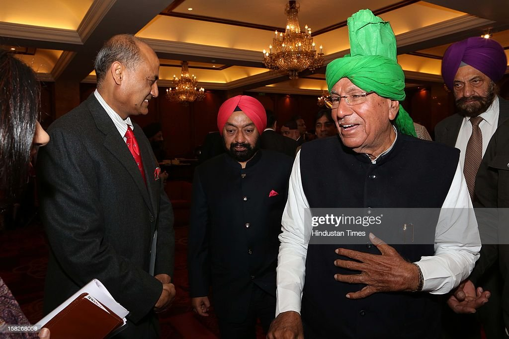 Former CM of Harayana Om Prakash Chautala during SAARC Charter Day organized by SAARC Chambers of Commerce and Industry at Taj Man Singh on December 8, 2012 in New Delhi, India.