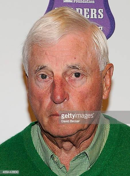 Former college basketball coach Bobby Knight arrives at Tony La Russa's 3rd annual Leaders Legends Gala benefitting the Animal Rescue Foundation at...
