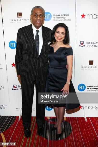 Former Comptroller of the state of New York H Carl McCall and president of FIT Dr Joyce Brown attends the Fashion Institute Of Technology 2017 Gala...