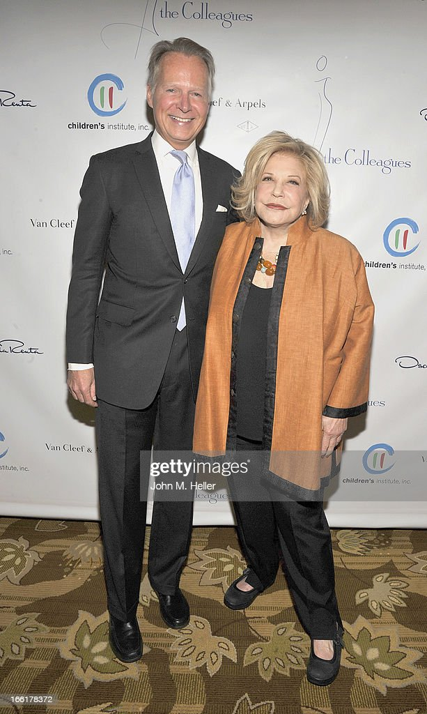 Former Congressman David Dreier, and Honoree Wallis Annenberg attend the 25th annual Colleagues Luncheon at the Beverly Wilshire Hotel on April 9, 2013 in Beverly Hills, California.