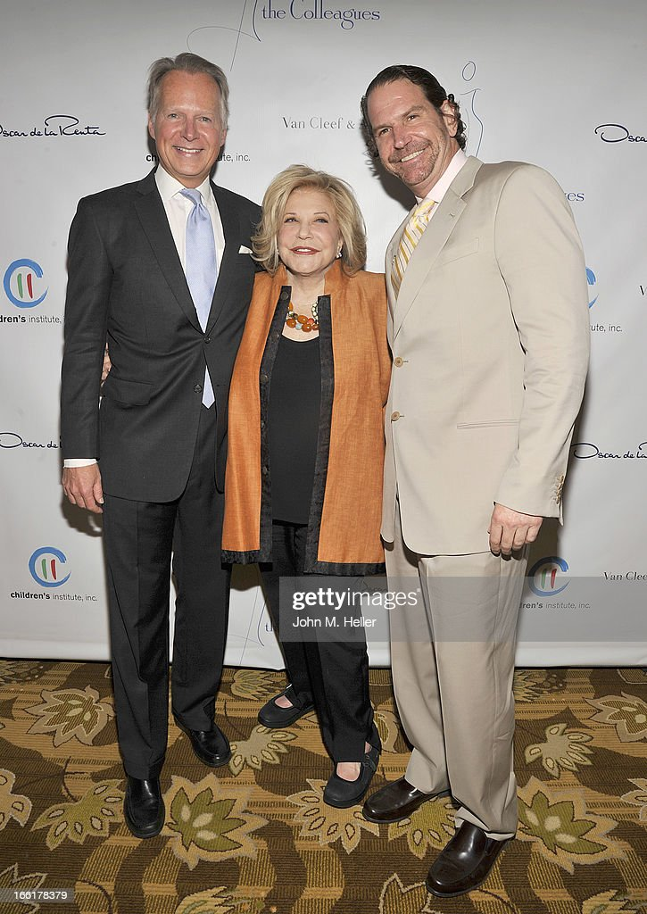 Former Congressman David Dreier, Honoree Wallis Annenberg and her son Charlie Annenberg attend the 25th annual Colleagues Luncheon at the Beverly Wilshire Hotel on April 9, 2013 in Beverly Hills, California.