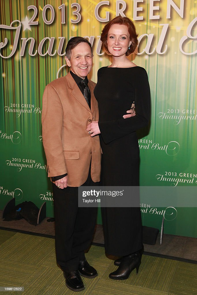 Former congressman Dennis Kucinich and wife Elizabeth Kucinich attend the 2013 Green Inaugural Ball at NEWSEUM on January 20 2013 in Washington DC
