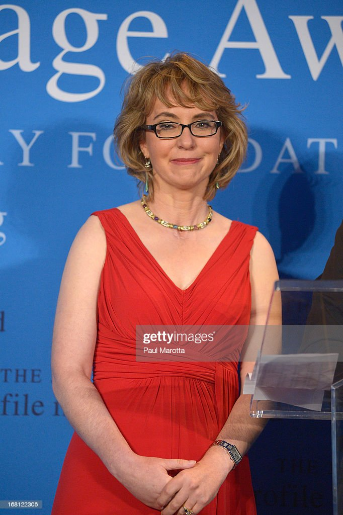 Former Congresswoman Gabrielle 'Gabby' Giffords receives the 2013 John F. Kennedy Profile In Courage Award at The John F. Kennedy Presidential Library And Museum on May 5, 2013 in Boston, Massachusetts.