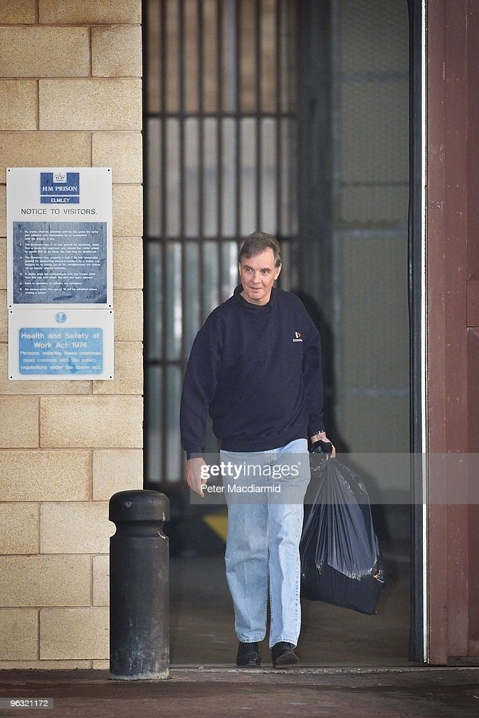 Former Conservative Cabinet Minister Jonathan Aitken walks from Elmley Prison on the Isle of Sheppey, Kent, 7th January 2000. He had served seven months for perjury and perverting the course of justice.