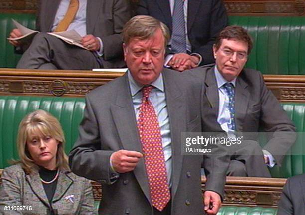 Former Conservative Chancellor Ken Clarke speaks after Chancellor Alistair Darling made a statement to the House of Commons London regarding the...