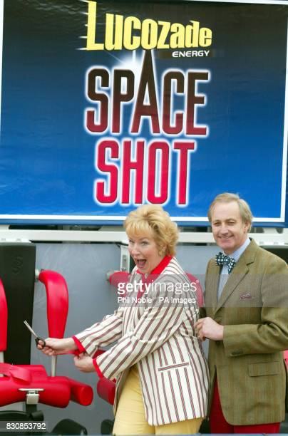 Former conservative MP Neil Hamilton and his wife Christine launch the new Lucozade Space Shot at Pleasureland Park Southport Merseyside The 150ft...
