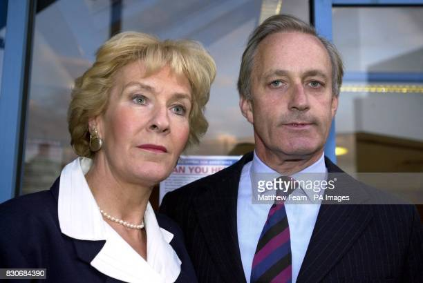 Former Conservative Party MP Neil Hamilton and his wife Christine outside Barkingside Police Station in Essex Mr and Mrs Hamilton had attended the...