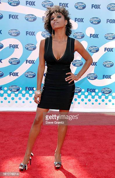 Former contestant Syesha Mercado arrives at the American Idol Season 8 Grand Finale held at Nokia Theatre LA Live on May 20 2009 in Los Angeles...