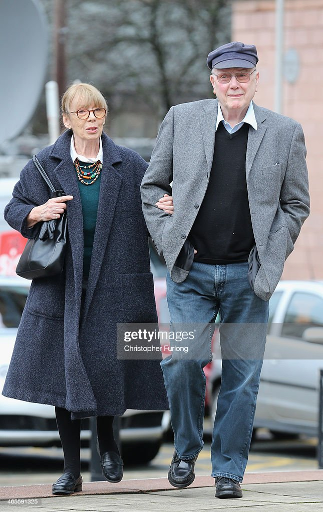 Former Coronation St actor Kenneth Cope and his wife Renny arrive at Preston Crown Court ahead of giving evidence in the trial of William Roache on...