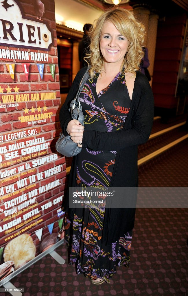 Former 'Coronation Street' actress Sally Lindsay attends the press night of 'Corrie! The Play' at Manchester Palace Theatre on April 4, 2011 in Manchester, England.