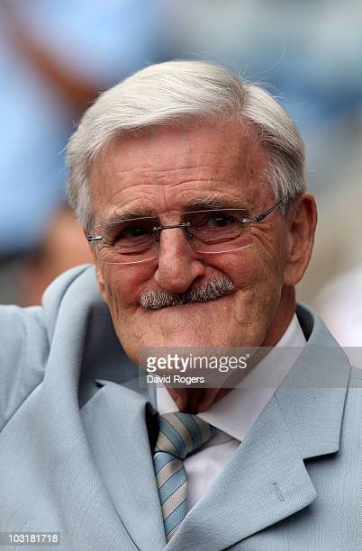 Former Coventry City chairman Jimmy Hill looks on during the preseason freindly match between Coventry City and West Bromwich Albion at the Ricoh...