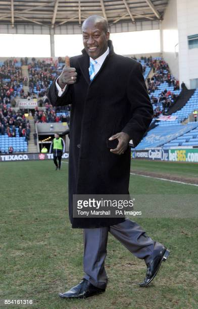 Former Coventry City player Dave Bennett steps on to the pitch at halftime