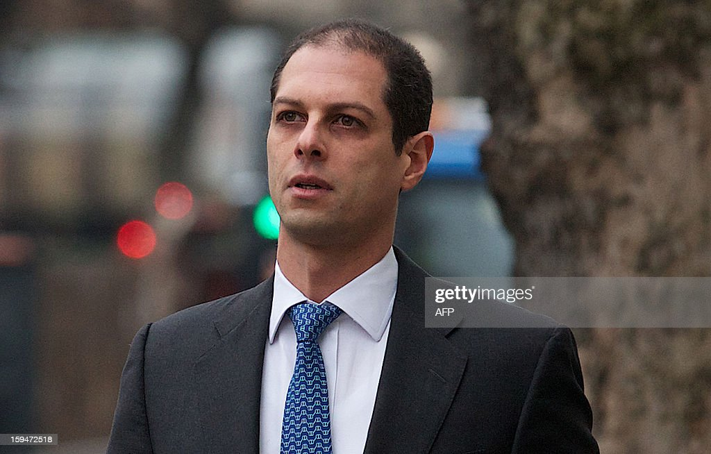 US former Credit Suisse executive Kareem Serageldin arrives at Westminster Magistrates' Court in central London on January 14 2013 to face an...