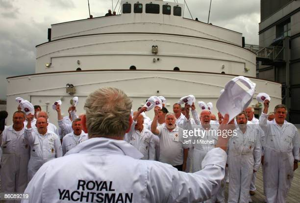 Former crew members of the Royal Yacht Britannia gather on the ship for a special reunion on April 21 2009 in Edinburgh Scotland The Royal Yacht...