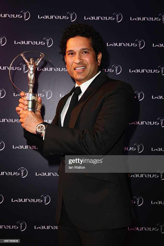 Former Cricketer <a gi-track='captionPersonalityLinkClicked' href=/galleries/search?phrase=Sachin+Tendulkar&family=editorial&specificpeople=201846 ng-click='$event.stopPropagation()'>Sachin Tendulkar</a> of India attends the 2015 Laureus World Sports Awards at Shanghai Grand Theatre on April 15, 2015 in Shanghai, China.