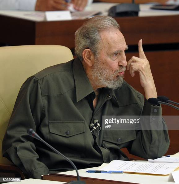 Former Cuban President Fidel Castro speaks during a special session of the Cuban Parliament on August 7 2010 in Havana Castro on Saturday addressed...