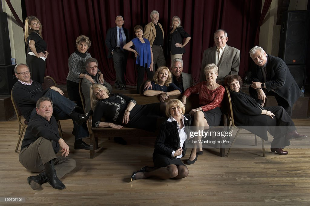 Former dancers from the Buddy Deane Show photographed at the Mobtown Ballroom in Baltimore, Maryland on January 09, 2013. from LEFT TO RIGHT, Jerry Manowski, Charlie LoPresto, Lola Jones, Concetta and John Sankonis, Suzy Costello, Shirley Joyce, Linda and Gene SnyderAnne Boyer Tempera and Rich Tempera, Frani and Wayne Hahn.
