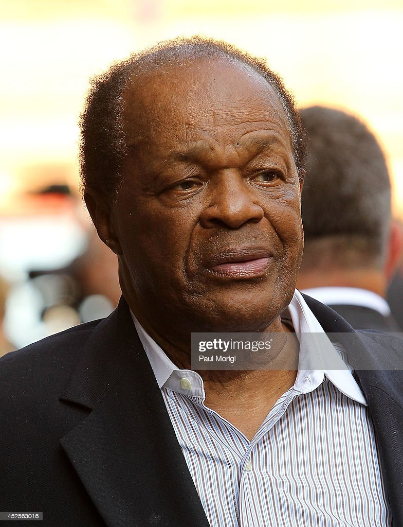 Former DC Mayor <a gi-track='captionPersonalityLinkClicked' href=/galleries/search?phrase=Marion+Barry&family=editorial&specificpeople=220164 ng-click='$event.stopPropagation()'>Marion Barry</a> attends the Trump International Hotel Washington, D.C Groundbreaking Ceremony at Old Post Office on July 23, 2014 in Washington, DC.