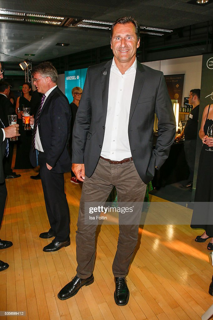 Former decathlete <a gi-track='captionPersonalityLinkClicked' href=/galleries/search?phrase=Lars+Riedel&family=editorial&specificpeople=740563 ng-click='$event.stopPropagation()'>Lars Riedel</a> during the Green Tec Award After Show Party at ICM Munich on May 29, 2016 in Munich, Germany.