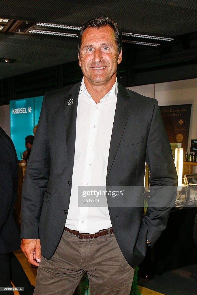 Former decathlete Lars Riedel during the Green Tec Award After Show Party at ICM Munich on May 29, 2016 in Munich, Germany.