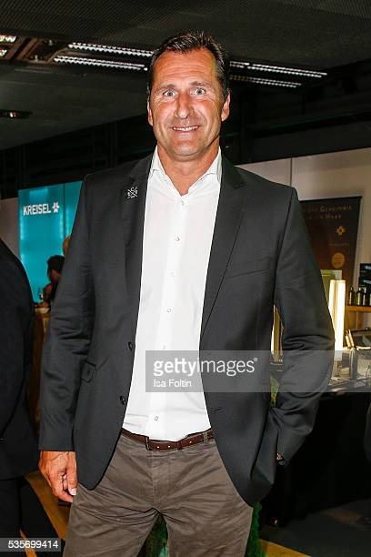 Former decathlete Lars Riedel during the Green Tec Award After Show Party at ICM Munich on May 29 2016 in Munich Germany