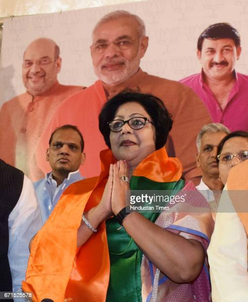 Former Delhi Congress leader Barkha Shukla Singh joined BJP in the presence of Delhi BJP incharge Shyam Jaju and Sports Minister Vijay Goel a day...