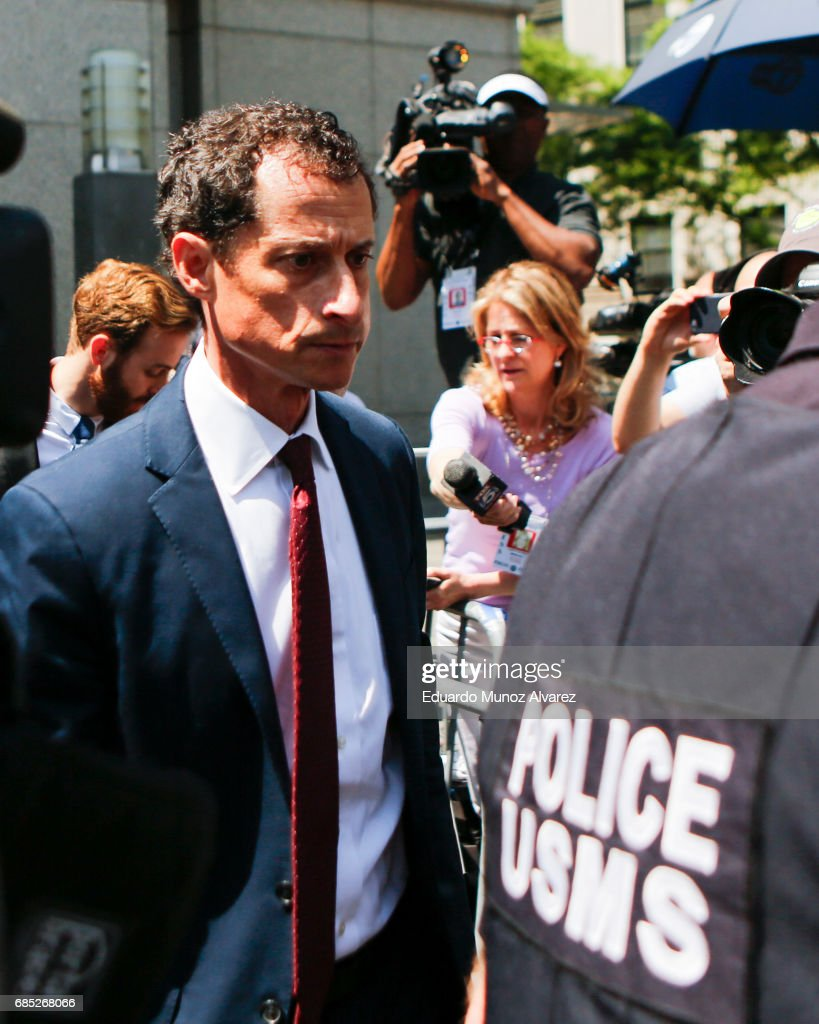 Former Democratic Congressman Anthony Weiner exits federal court in Manhattan after pleading guilty in sexting case on May 19, 2017 in New York City. Weiner, who resigned from Congress over a sexting scandal, pleaded guilty on friday to federal charges of transmitting sexual material to a minor and could face a prison term.