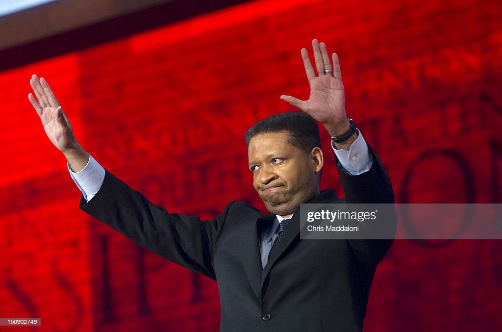 Former Democratic congressman from Alabama Artur Davis speaks at the 2012 Republican National Convention at the Tampa Bay Times Forum