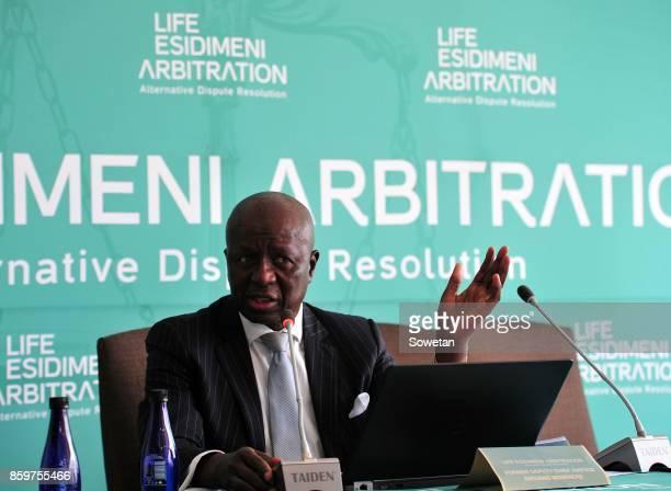 Former Deputy Chief Justice Dikgang Moseneke during the Life Esidimeni arbitration hearing at Emoyeni Conference Centre Parktown on October 09 2017...