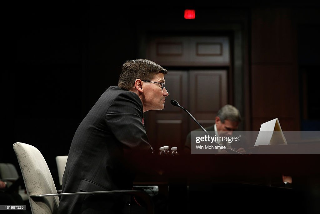 Former Deputy CIA Director Michael Morell testifies before the House Select Intelligence Committee April 2, 2014 in Washington, DC. The committee heard testimony on the topic of 'The Benghazi Talking Points and Michael J. Morell's Role in Shaping the Administration's Narrative.'