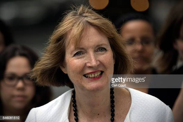 Former Deputy Leader of the Labour Party Harriet Harman arrives to attend a press conference held by former shadow business secretary Angela Eagle in...