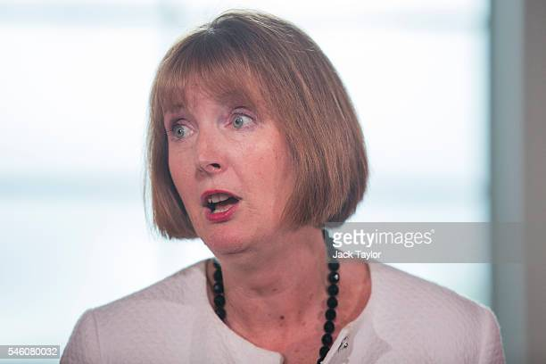Former Deputy Leader of the Labour Party Harriet Harman introduces former Shadow Cabinet Minister Angela Eagle as she launches her bid for the Labour...