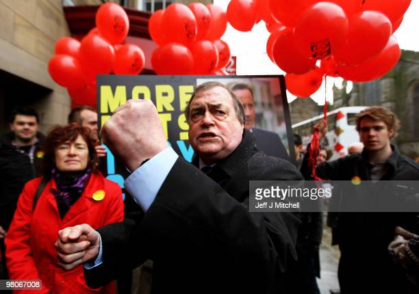 Former deputy Prime Minister John Prescott joined Labour candidates and activists ahead of the Scottish Labour Party Conference on March 26 2010 in...