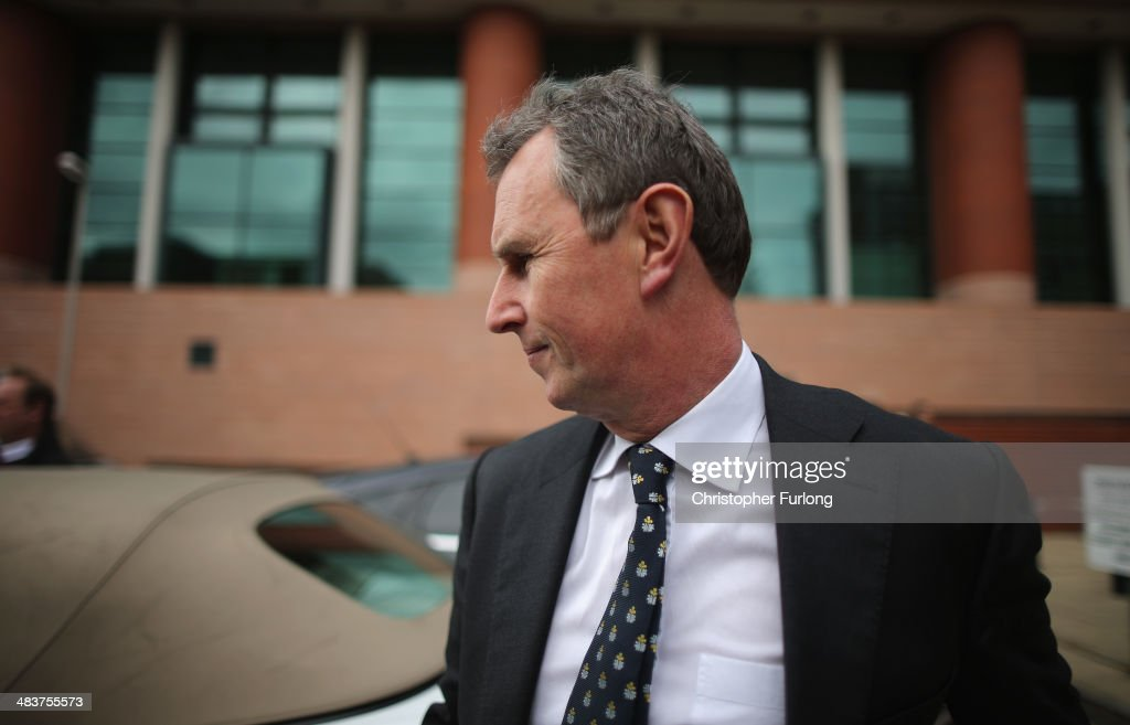 Former deputy speaker of the House of Commons <a gi-track='captionPersonalityLinkClicked' href=/galleries/search?phrase=Nigel+Evans&family=editorial&specificpeople=2486752 ng-click='$event.stopPropagation()'>Nigel Evans</a> (C) leaves Preston Crown Court, after being found not guilty of alleged sexual offences on April 10, 2014 in Preston, Lancashire. <a gi-track='captionPersonalityLinkClicked' href=/galleries/search?phrase=Nigel+Evans&family=editorial&specificpeople=2486752 ng-click='$event.stopPropagation()'>Nigel Evans</a>, the former deputy speaker of the House of Commons has been cleared and found not guilty of nine sexual charges against him dating from 2002 to April 1, 2013.