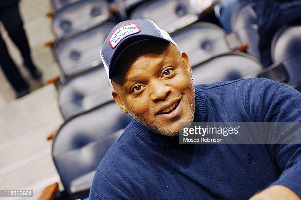 Former Detroit Tigers Player Cecil Fielder during Celebrity Sightings at Atlanta Hawks vs Cleveland Cavaliers December 1 2006 at Philips Arena in...