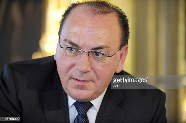 Former Deutsche Bundesbank president Axel Weber talks during a session about 'monetary policy issues' as part of a conference organized by Banque de...