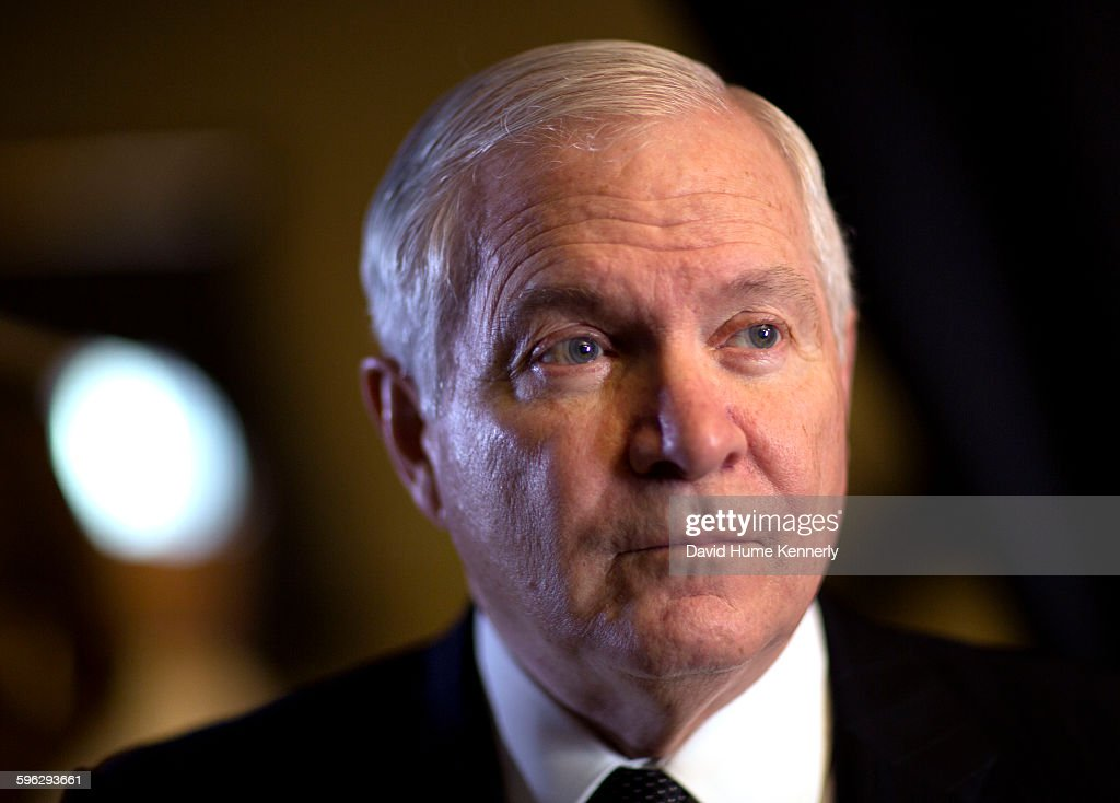 Former Director of Central Intelligence under President George H.W. Bush, Robert Gates is interviewed for 'The Spymasters,' a documentary for CBS/Showtime about directors of the CIA. With producers Chris Whipple, Gedeon and Jules Naudet. Mt. Vernon, Washington, December 15, 2014. .